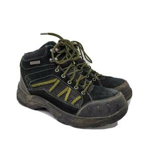 Brahma Mens Black Lace Up Work Safety Boot US 7